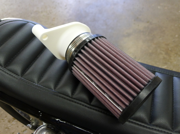 Honda CB550 Cone Filter Adapter in Black Natural Versatile Plastic