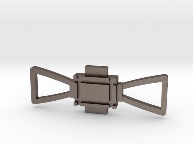 Obi Wan Buckle in Polished Bronzed Silver Steel