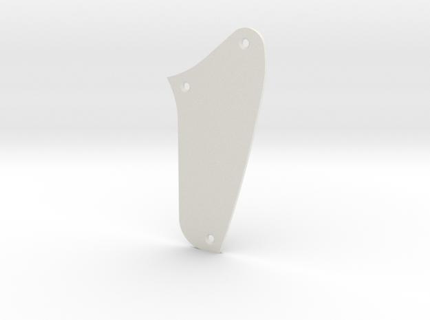 LH Jaguar Rhythm Circuit Control  Plate - Blank in White Natural Versatile Plastic