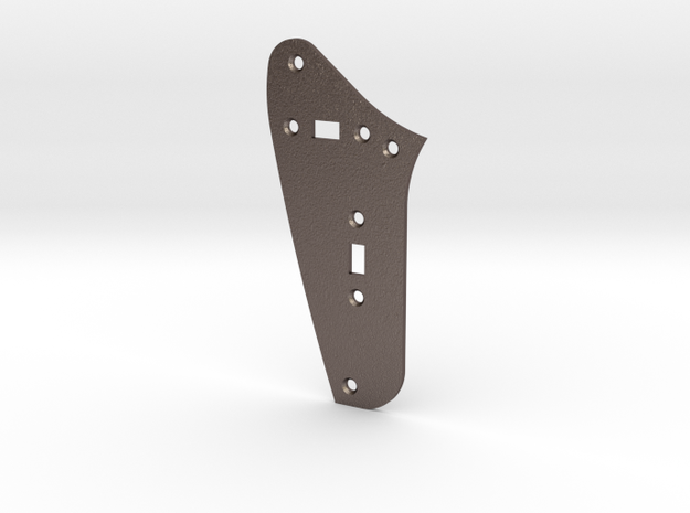 Jag Rhythm Circuit Plate - 2 On/Off switches in Polished Bronzed Silver Steel