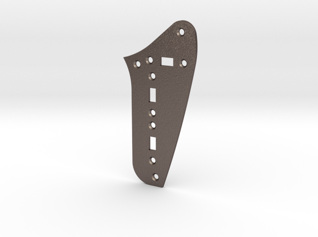 LH Jag Rhythm Circuit Plate - 3 On/Off switches in Polished Bronzed Silver Steel