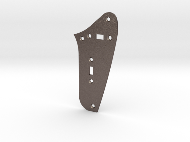 LH Jag Rhythm Circuit Plate - 2 On/Off switches in Polished Bronzed Silver Steel