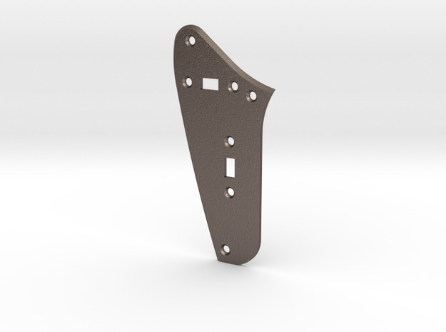Jag Rhythm Circuit Plate - 2 On/Off switches Bevel in Polished Bronzed Silver Steel