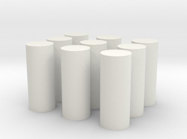 5mm Peg Long in White Natural Versatile Plastic
