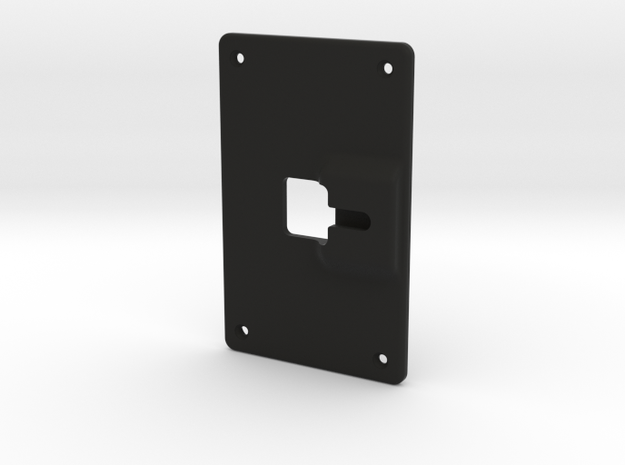 Backplate Screwmount Extra1mm in Black Strong & Flexible