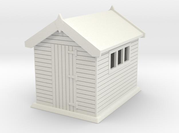 Garden shed 01. HO Scale (1:87) in White Natural Versatile Plastic