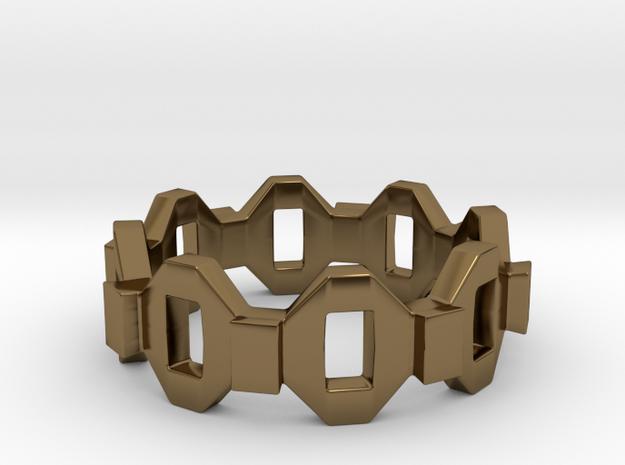 Zero Ring in Polished Bronze