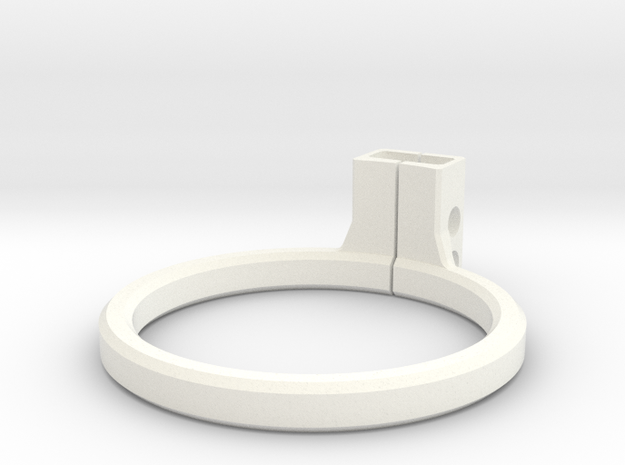 OD Fundus  - Lens Mount in White Strong & Flexible Polished