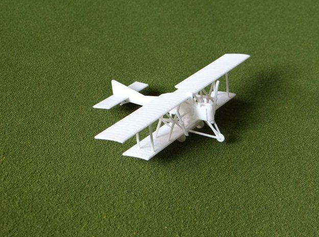 Salmson-Moineau S.M.1 1:144th Scale in White Natural Versatile Plastic