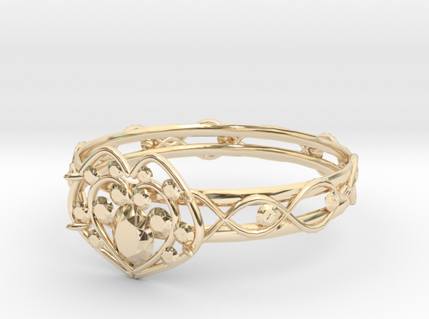 Heart ring(Japan 10,USA 5.5,Britain K)  in 14K Yellow Gold