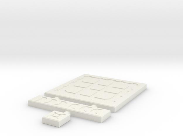 SciFi Tile 04 - Techno plate in White Natural Versatile Plastic