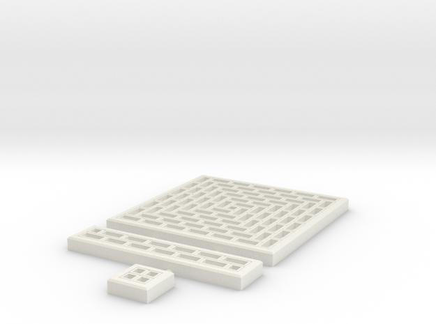 SciFi Tile 11 - Running Bond Walkway in White Strong & Flexible