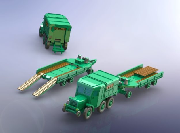 French Laffly S 35 T Tractor w. Tank-Trailer 1/285