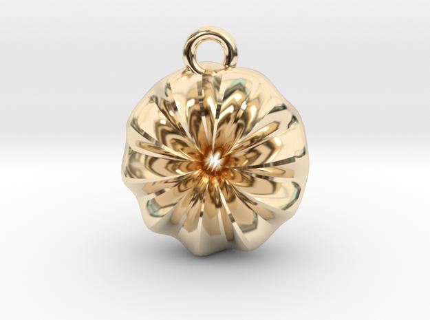 Warp Ring Pendant in 14K Yellow Gold