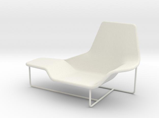 Lama 921 Lounge Chair 1:24 in White Natural Versatile Plastic
