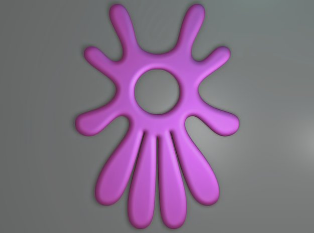 Summer 's here (pendant) 3d printed Summer 's here (Purple)
