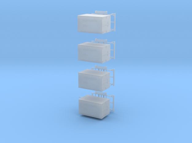 Kofferanhänger 4Stck  in Smooth Fine Detail Plastic