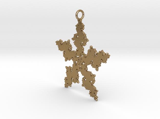 Julia Flake Pendant in Polished Gold Steel