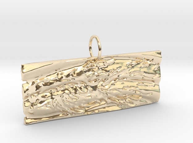 New Beginnings II Keychain/Pendant in 14K Yellow Gold