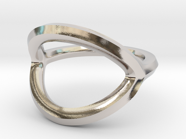 Arched Eye Ring Size 7.5 in Platinum
