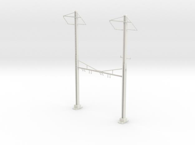 HO Scale PRR K Braced 2 Track Y BRACKET 2PH in White Natural Versatile Plastic