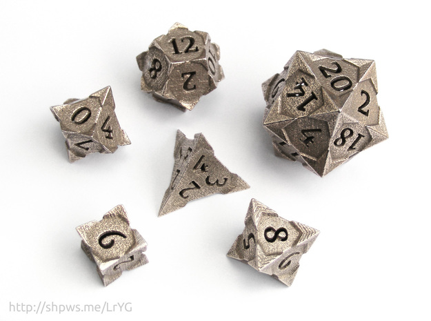 'Starry' Gaming Die Set: D20, D12, D10, D8, D6, D4