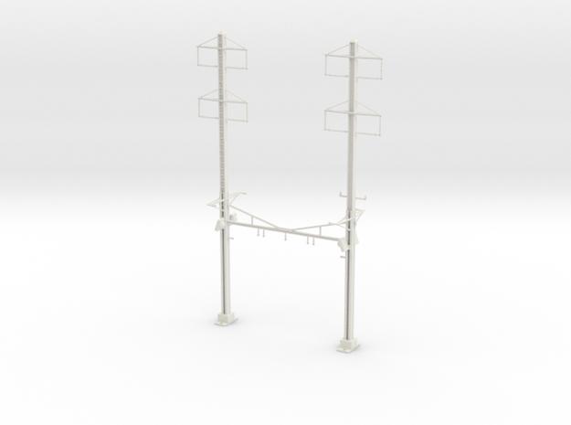 PRR K BRACE 2 TRACK INTERLOCKING 2-2PHASE  in White Natural Versatile Plastic
