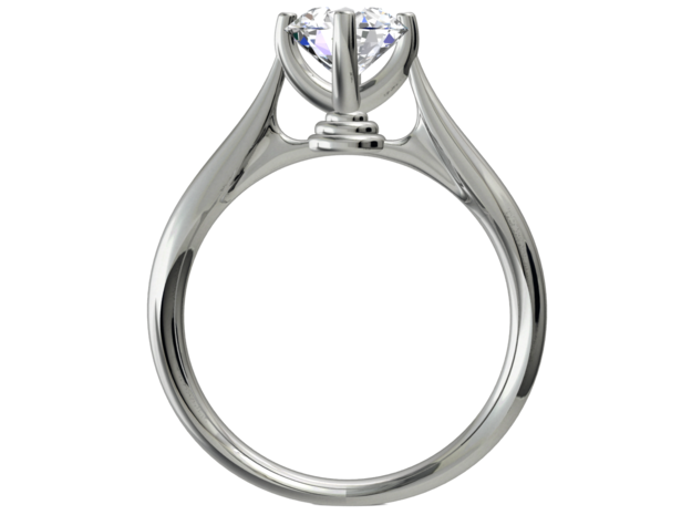 CA13  -   Bat Man Style Engagement Ring Design 3D  in Smooth Fine Detail Plastic