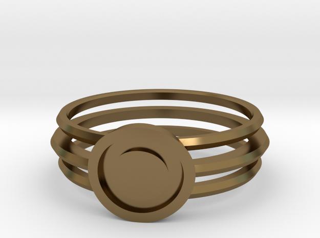 Vault Dweller's ring in Polished Bronze: 6 / 51.5