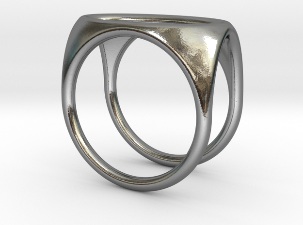 Square Ring model C - size 10 in Polished Silver