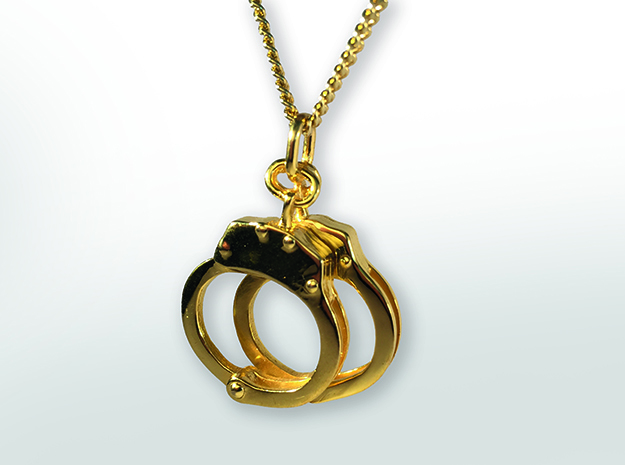 Handcuffs in Polished Brass