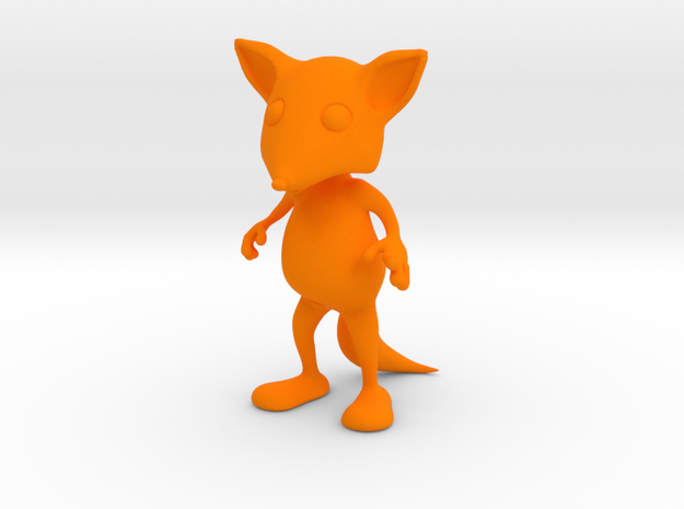 Tiny Fox in Orange Processed Versatile Plastic