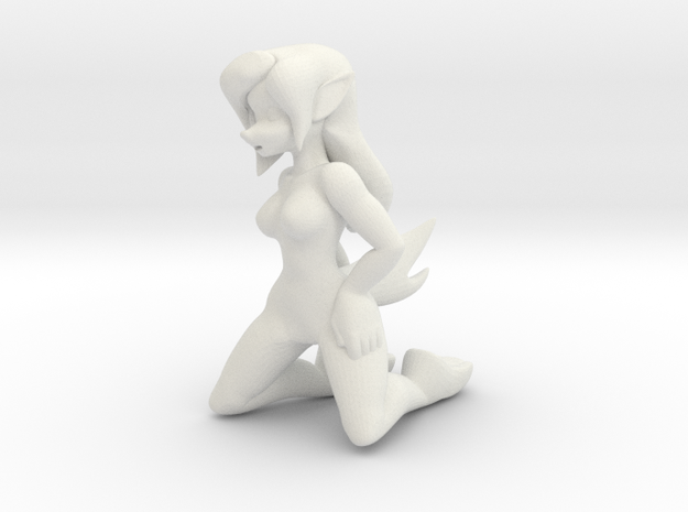Critterpocalypse - Coyote (Kneeling) in White Natural Versatile Plastic