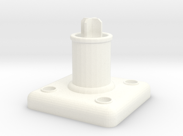 Simple Curtain Rod Finial Mount in White Processed Versatile Plastic