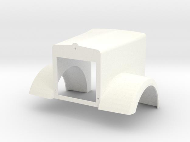 Custom KW W900L Style Hood in White Processed Versatile Plastic