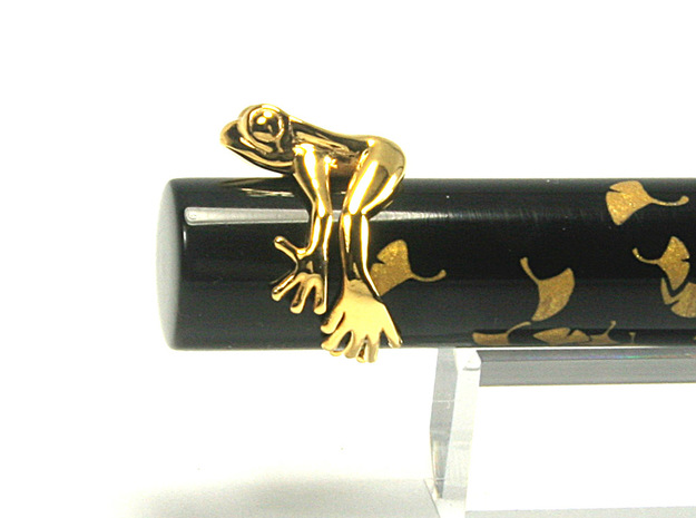 Frog Ring v2 15mm in 18k Gold Plated Brass