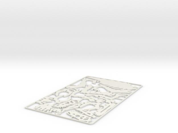 Raptor 3D Puzzle in White Natural Versatile Plastic