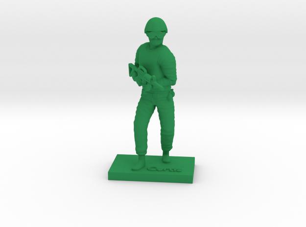 Soldier Curtis in Green Processed Versatile Plastic