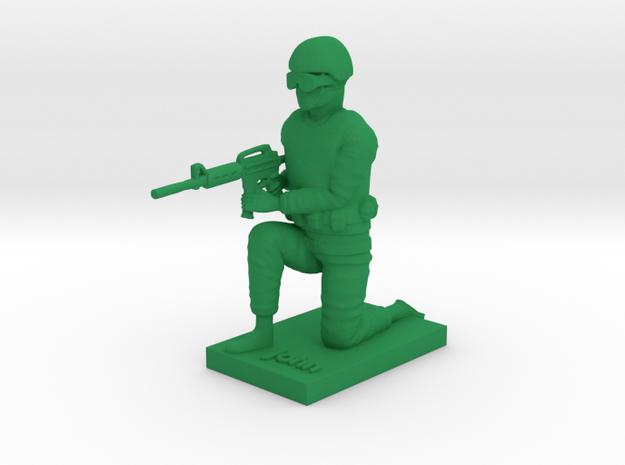 Soldier John in Green Processed Versatile Plastic