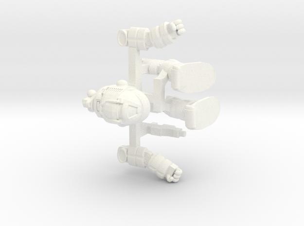Ogre Posable in White Processed Versatile Plastic