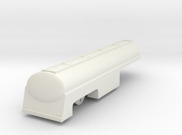 1/43 scale Fruehauf Fuel Trailer from Duel Movie in White Natural Versatile Plastic