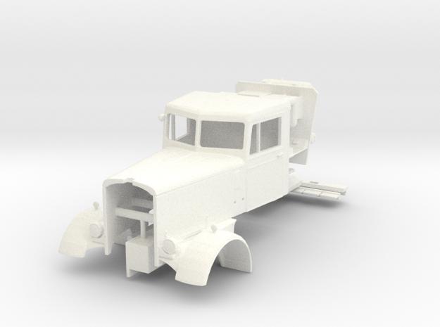 1/43 scale Duel movie Peterbilt cab in White Processed Versatile Plastic
