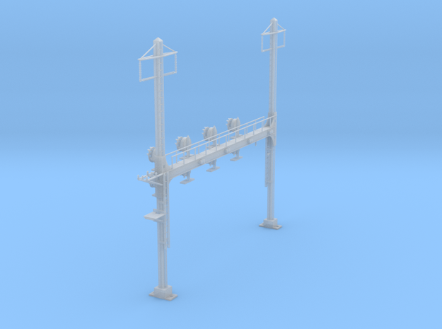CATENARY PRR BEAM SIG 4 TRACK 2PHASE N SCALE  in Frosted Ultra Detail