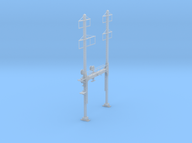 CATENARY PRR BEAM SIGNAL 2 TRACK 2-3 PHASE N SCALE in Smooth Fine Detail Plastic