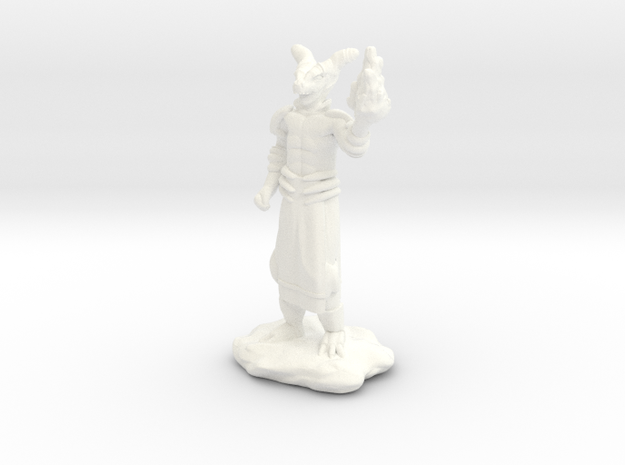 Fire Wizard with Dragon Helmet in White Processed Versatile Plastic