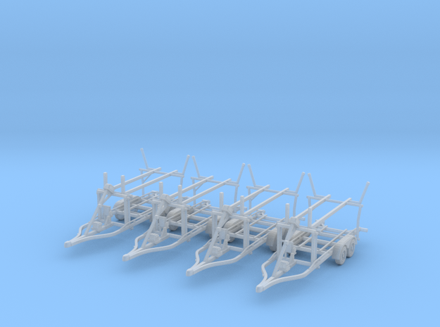 Boat trailer 01. N Scale  (1:160) or 10mm