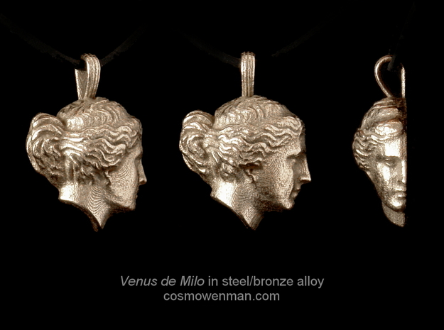 Steel Venus de Milo pendant in Stainless Steel
