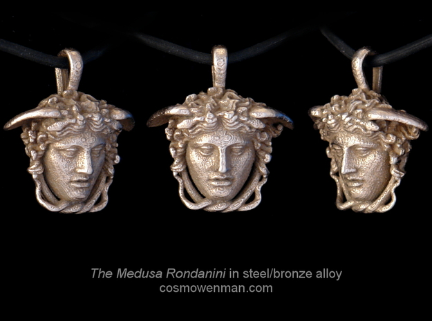 Steel Medusa Rondanini pendant in Stainless Steel