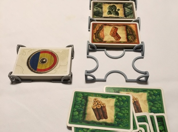 Catan Five Deck Card Holder in White Natural Versatile Plastic