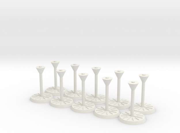 "Starship Stand 1"" base, 10-pack 3d printed"